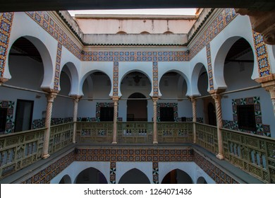 Algiers , Algeria - December 06, 2018 : Traditional house in old town Casbah