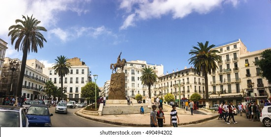 ALGIERS, ALGERIA - FEB 6, 2016: Emir Abdelkader or Abdelkader El Djezairi was an Algerian Sharif religious and military leader who led a struggle against French colonial invasion in mid-19th century.