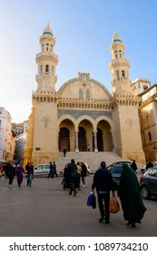 ALGIERS, ALGERIA - MARCH 12, 2018: Ketchaoua Mosque in Algiers, the capital and largest city of Algeria. UNESCO World Heritage Site