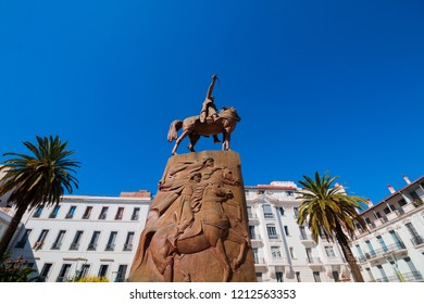 Algiers, Algeria - october 13, 2018 : place of the emir abdelkader