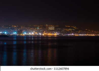 Algiers cityscape by night