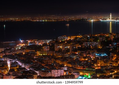 Algiers cityscape, the capital of Algeria at night