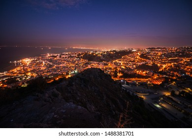 Algiers cityscape at night, Algiers skyline