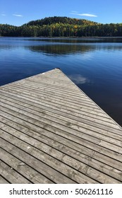 An Algonquin dock and lake in fall