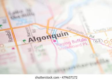 Algonquin Illinois Map.Algonquin Illinois Usa Stock Photo Edit Now 479677660 Shutterstock