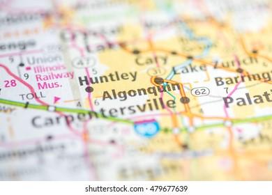 Algonquin Illinois Map.Algonquin Illinois Usa Stock Photo Edit Now 479677603 Shutterstock