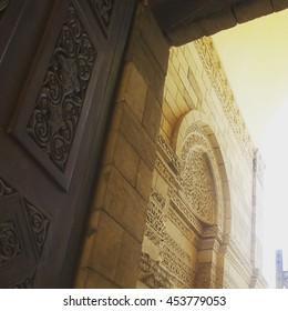 Al-Hakim mosque's doorway