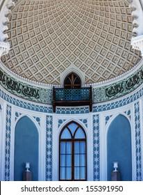Alhambra in Arabian style in the terrace of Vorontsov Palace in Alupka, Crimea, Russia.