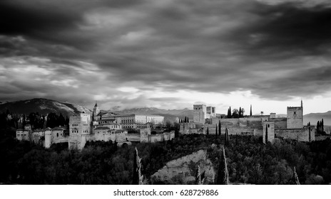 The Alhambra, an arabic fortress situated in Granada, Andalusia, South Spain. A beautiful place to visit in summer for holidays.