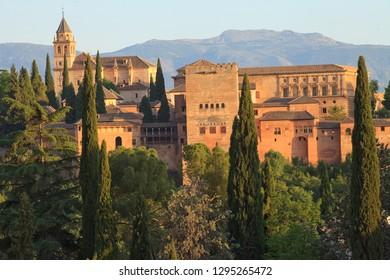 Alhambra of Granada, Andalucia, Spain