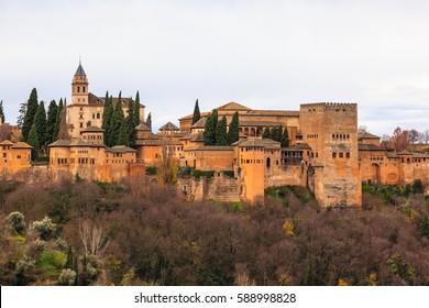 The Alhambra of Granada. Spain