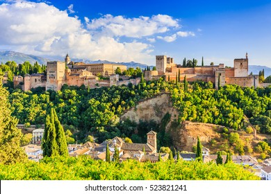 Alhambra of Granada, Spain. Alhambra fortress.