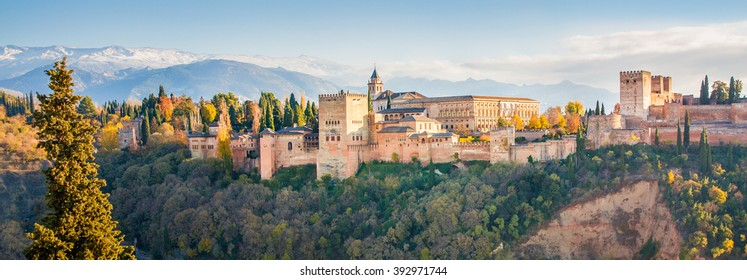 The Alhambra is a palace and fortress complex located on the left bank of the river Darro in Granada, Andalusia, Spain. It was built with influences of Arabic and Renaissance  styles.