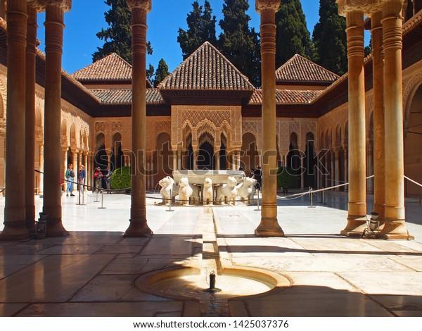 Alhambra Palace Granada Andalusia Spain 13 Stock Photo (Edit