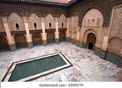 The Ali Ben Youssef Madrassa in Marrakech, Morocco