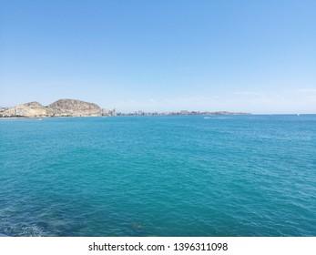 Alicante bay from Alicante Port . April 2019