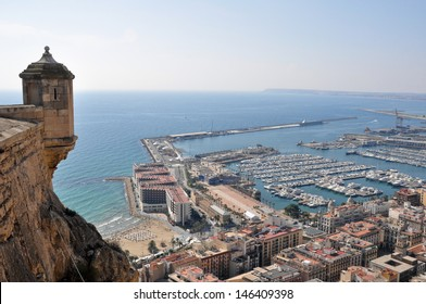 Alicante from the castle of Santa Barbara (Spain)