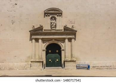 Alicante Co-cathedral of Saint Nicholas of Bari (Concatedral de San Nicolas de Bari, 1662). Alicante is port city on Spain south-eastern Costa Blanca, and the capital of the Alicante province. Spain.
