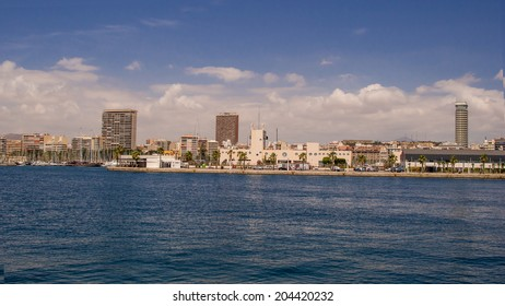 ALICANTE - JUL 9 :  Urban view on July 9, 2014 in Alicante, spain. This city is a great touristic place of the Mediterranean.