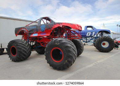 ALICANTE - SPAIN. June 30, 2016. Monster truck and races festival during the summer.