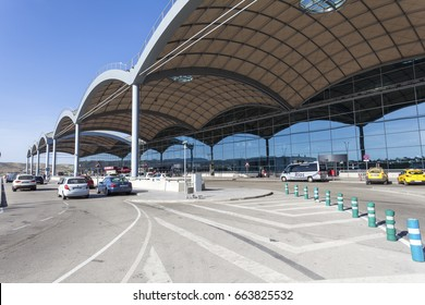 Alicante, Spain - May 27, 2017: Exterior view of the Alicante international airport in Spain