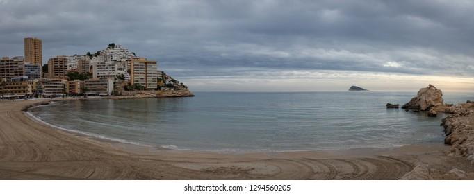 Alicante, Spain; November 23, 2018: Views of the Cala de Finestrat, Alicante