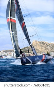 Alicante, Spain: October 22 2017 Volvo Ocean Race 2017-18; Volvo Ocean race 2017-18, LEG 1 start from Alicante (Spain)