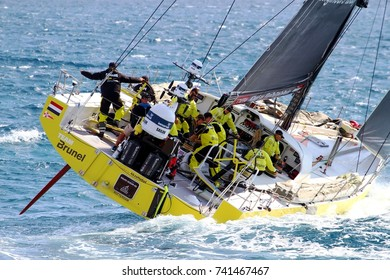 ALICANTE, SPAIN - OCTOBER 22: Previous moments to start the Leg 1 of VOR 2017 around the world with Team Brunel sailing, on October 22, 2017 in Alicante.