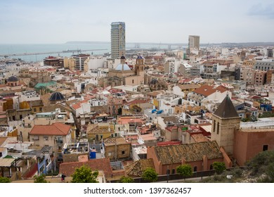 Alicante/Spain- April 13. 2019 Year:View of Alicante from the castle hill Spain Costa blanca