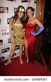 Alicia Arden and Katie Lohmann at the Monster Man Costume Ball, Cabo Wabo, Hollywood, CA 10-16-13
