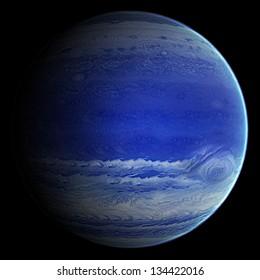 Alien Blue Gas Exo Planet