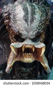 Alien character from Alien versus Predator. In the Museum of Film Legends in Prague 30.3.2018.