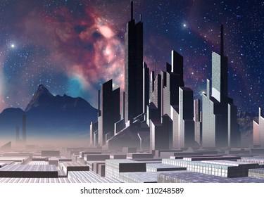 Alien City on an Alien Planet