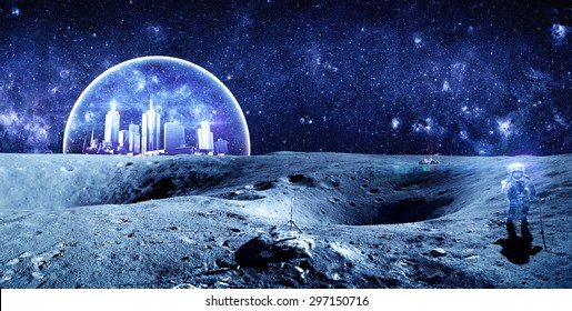 Alien Colony - Elements of this Image Furnished by NASA