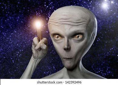 Alien humanoid