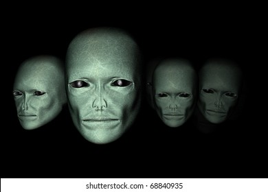 Alien life forms - the discovery of Faces of aliens - the universe and life