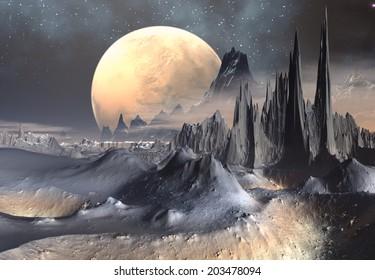 Alien Planet - 3D Rendered Computer Artwork