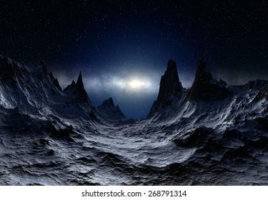 Alien Planet - 3D Rendered Landscape