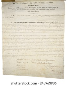 Alien and Sedition Acts of 1798. Handwritten document dated July 6 1798. Page 2 of 2.