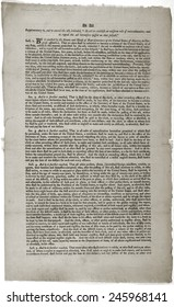 Alien and Sedition Acts of 1798. Printed document.