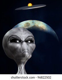 Alien that is watching a UFO