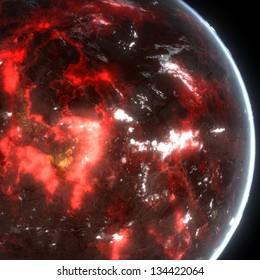Alien Volcanic Exo Planet