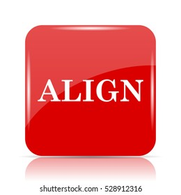 Align icon. Align website button on white background.