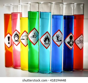 Aligned Chemical Danger pictograms - Flammable