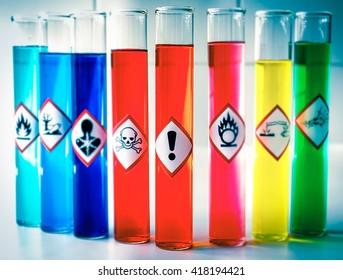 Aligned Chemical Danger pictograms - Health Hazard