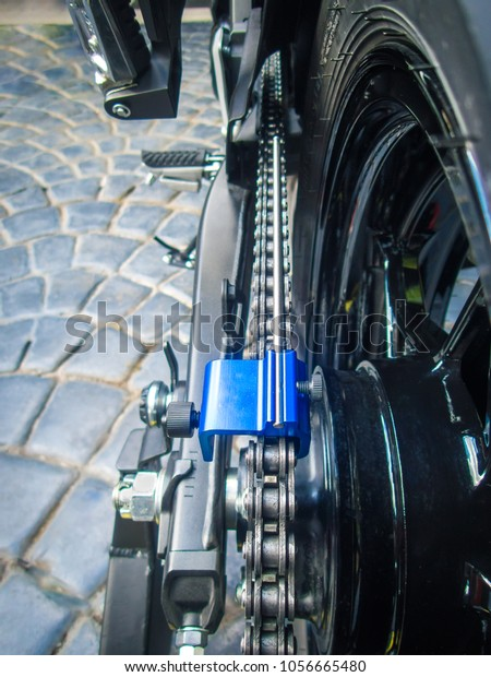 Aligning Rear Wheeltiresprocket Chain Alignment Tool Stock