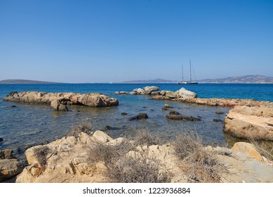Aliki beach - Aegean sea - Paros Cyclades island - Greece