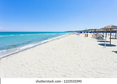 Alimini Grande, Apulia, Italy - Visiting the huge beach of Alimini Grande