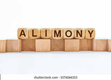 ALIMONY word on block