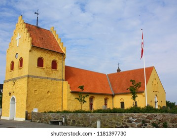 Alinge Church from 1500 in Alinge on the island Bornholm. Denmark